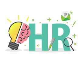 elementi infografici di gestione delle risorse umane o delle risorse umane vettore