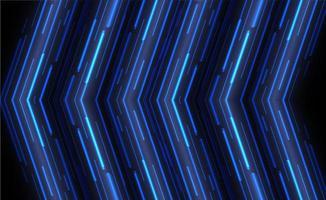 La freccia blu di angolo si sovrappone al fondo di vettore con spazio per testo