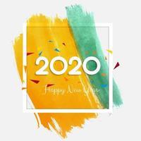 Celebrazione di sfondo del nuovo anno 2020 vettore