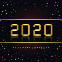 Felice anno nuovo 2020 vettore