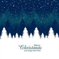 Priorità bassa di festa di celebrazione della scheda dell'albero di Natale vettore