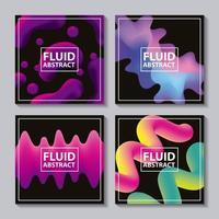 fluido astratto copre sfondo