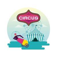 Fiera del divertimento circense vettore