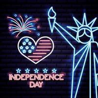 Festa dell'indipendenza americana vettore