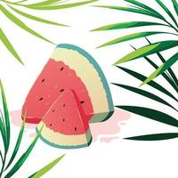 Fetta di design di anguria