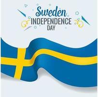 bandiera di celebrazione di giorno di indenpedence della Svezia
