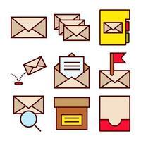Set di icone interazioni e-mail