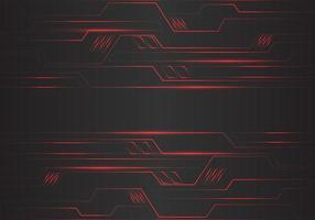Linee leggere geometriche del poligono astratto del circuito rosso vettore