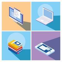 istruzione online imposta icone