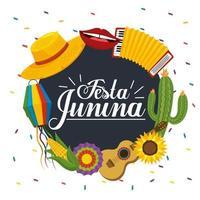 decorazione etichetta festa junina vettore