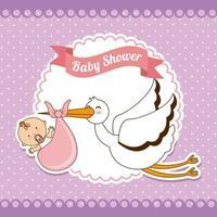 Baby shower design di saluto vettore