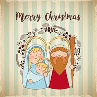 Saluto di Natale religioso vettore