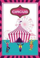Manifesto della fiera del divertimento del circo vettore