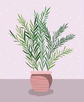 bella pianta d'appartamento in vaso vettore