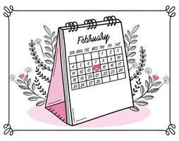 felice festa di San Valentino il 14 febbraio vettore