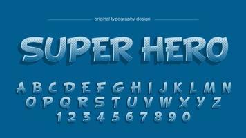 Blue Cartoon Comics Tipografia Design