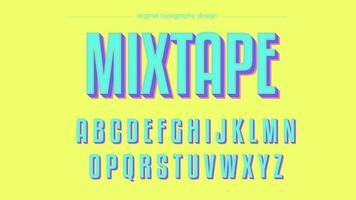 Design tipografico grassetto al neon colorato