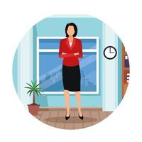 donna esecutiva nel fumetto dell'ufficio