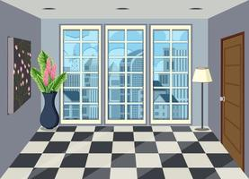 Interno della camera nell'appartamento alto