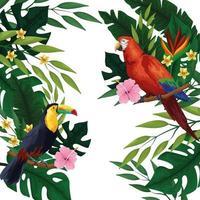 Cornice di carta vuota tropicale estate vettore