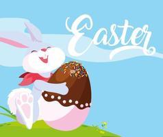 Saluto del coniglio di Pasqua