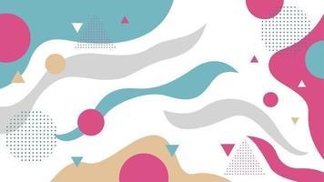 flusso astratto in sfondo geometrico stile memphis vettore