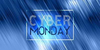 Cyber Monday vendita banner design