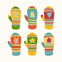 Collezione di guanti colorati
