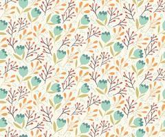 Seamless pattern di fiori delicati vettore