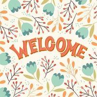 Scritte a mano di benvenuto