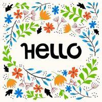 Ciao scritte a mano a colori vettore