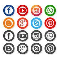 Icone per la progettazione di social network vettore