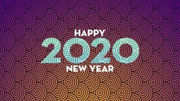 Felice anno nuovo 2020 sullo sfondo vettore