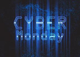 Sfondo techno moderno di Cyber Monday