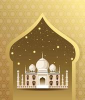 Architettura nazionale della costruzione del monumento dell'India vettore