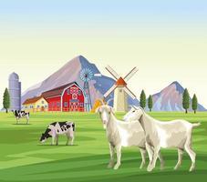 cartoni animati di animali da fattoria vettore