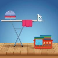 forniture per pulizie e kit di pulizia vettore