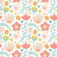 fiore fiore fogliame colorato sfondo seamless vettore