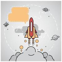 Tecnologia astratta e priorità bassa dell'astronave vettore