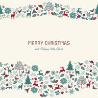 Sfondo di Natale vintage con testo per biglietto di auguri, decorativo vettore