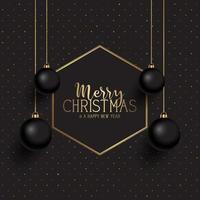 Sfondo di Natale nero e oro vettore