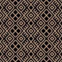 Modello di ornamento geometrico a catena in oro