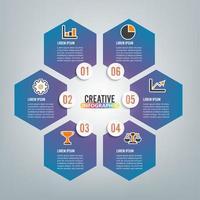 infografica 6 opzioni vettore