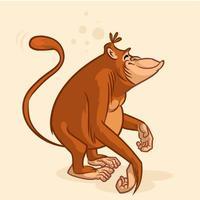 Personaggio dei cartoni animati scimmia orangutan