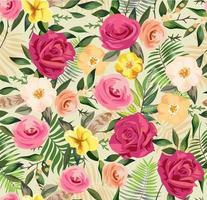 motivo floreale colorato vettore