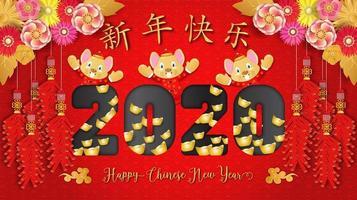 Capodanno cinese 2020. Anno del ratto vettore
