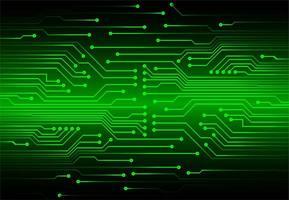 Concetto di circuito cyber verde