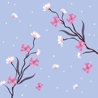 Motivo floreale sullo sfondo