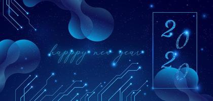 Elegante felice anno nuovo 2020