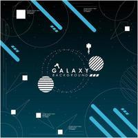 Sfondo geometrico blu esploratore spaziale vettore